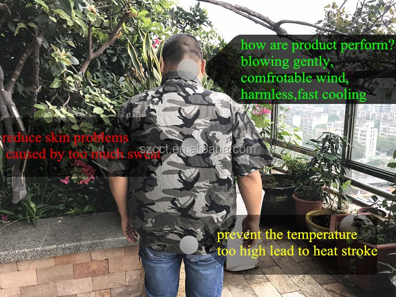 Fan clothing Cooling vest with fan/air conditioned clothes