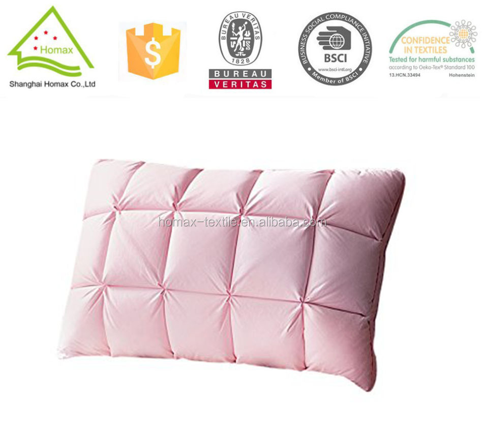 100% cotton fabric pillow polyester filling pillow