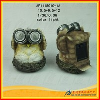 Resin cheap lamp solar owl garden statue