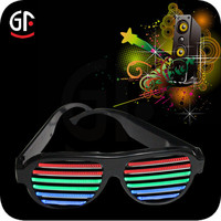 2015 New Design Cool Lighting Sound Activated Led Sunglasses