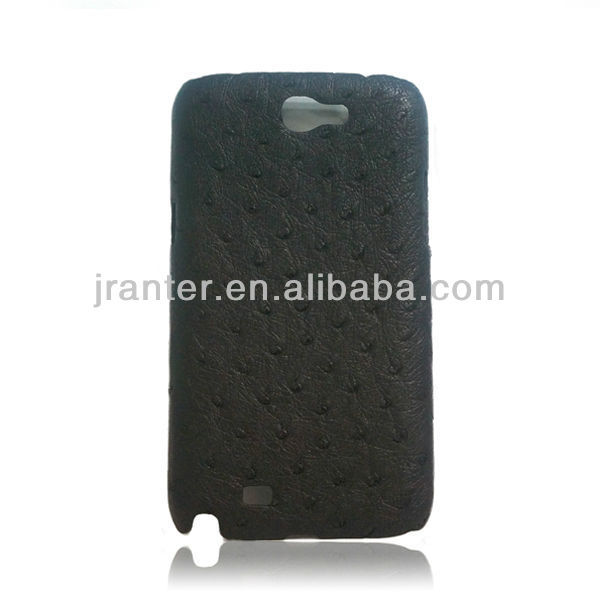For Samsung Galaxy Note 2 Case Genuine Ostrich Leather Case for Galaxy Note II