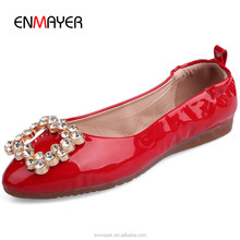 New fashion women flat dance shoes sweet round toe crystal ladies shoes girls casual shoes