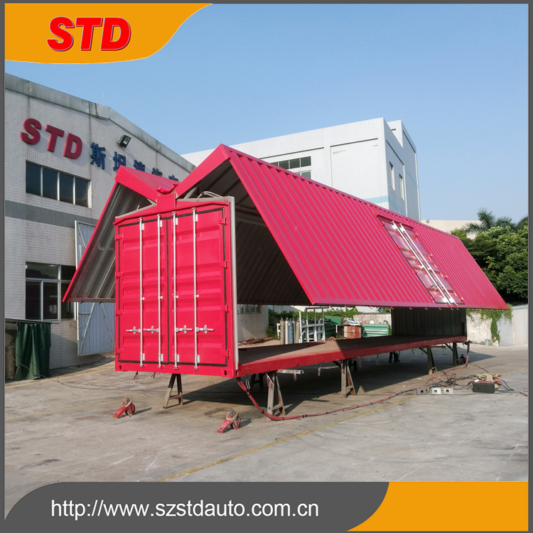 New 40ft wing open shipping container manufacturer