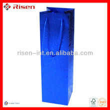 high grade wine paper bag for single bottle