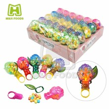 Lighting Rose Ring Toy With Press Candy