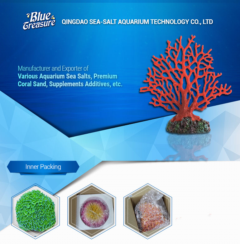 Beautiful Red Artificial Coral Decor for Aquariums