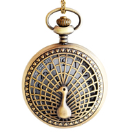 High quality classic peacock quartz pocket watch