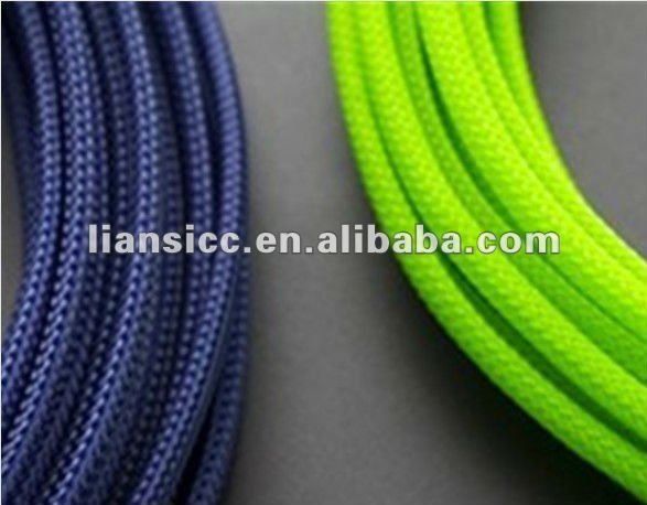 Expandable braided cable sleeving/PET/Nylon,pvc sleeve