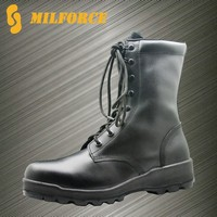 Cheap black leather welt construction used military army combat boots