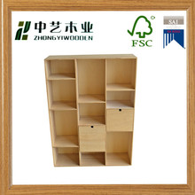 FSC&SA8000 shabby chic style supermarket shelf reclaimed pine blank supermarket shelf with dividers