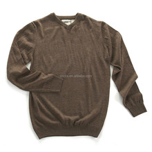 15JWA0110 men acrylic V neck pullover