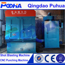 Q32 tumble belt shot blast machine for small parts rust cleaning