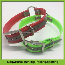 Pet product TPU reflective dog collar with O ring wholesale