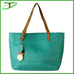 2015 new arrival lady pu handbag, pu leather handbag