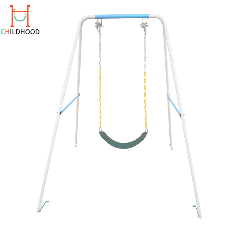Iron Design Metal Garden Chair Kid Simple Outdoor Swing Set