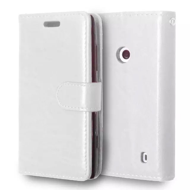 For Nokia Lumia 520 Leather Case Flip Wallet Cover Stand Function With Magnetic Buckle Card Slot Mobile Phone Case