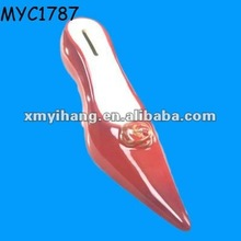 high heel shoe stiletto shape money saving box money bank