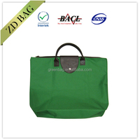 Eco friendly recycled polyester 600d folding tote bag