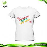 cheap price round neck custom printed 100 cotton white t shirt promotional advertising t shirts
