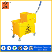 Cheap and high quality Y1009 magic foot pedal spin mop bucket