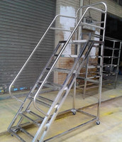 Economical used warehouse ladder by direct fctory