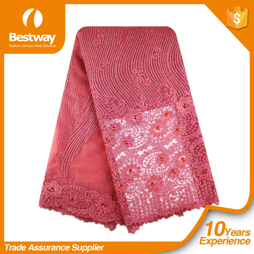 Bestway Textiles FL0116 New Fashion Dress African French Net Lace Fabric