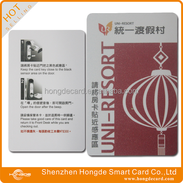 Good quality printing classic 1K S50 hotel key card for Saflok Kaba ILCO MIWA door lock