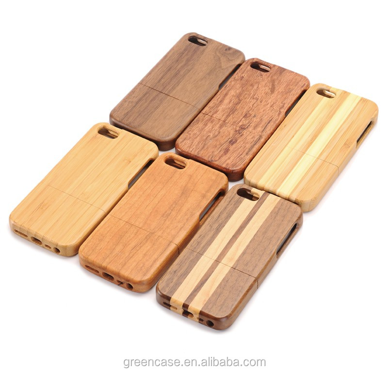 6 Material Wooden Case Elliptic Camera 4.0 inches Cell Phone Bags Cell Phone Cover for Iphone5/5s/5 se