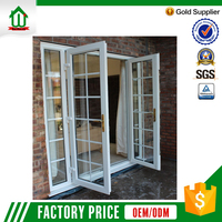 Commercial upvc front safety door design with grill