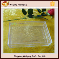 Food grade plastic sea food container rectangular packaging boxes with size 24*18*6cm