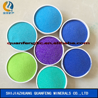 dye colored sand/slate flakes used for building materials