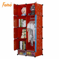 2015 New DIY flat packed wardrobes in plastic material FH-AL0530-8