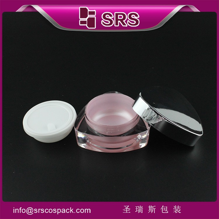 Triangle Shaped Empty Plastic Packaging,Acrylic Cosmetic Cream Jar 5g 10g 15g 30g 50g