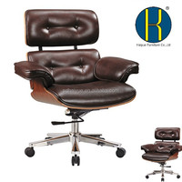 Modern executive office chairs with plywood frame for home, hotel and office use