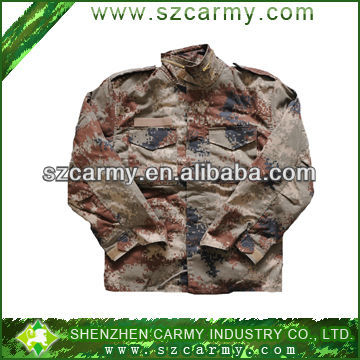 50%cotton&50%polyester military M65 quilted jacket, mens fashion camouflage jacket