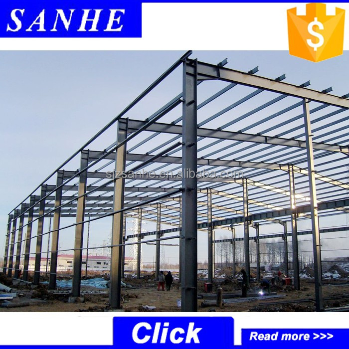high quality steel structure shed for car parking / warehouse