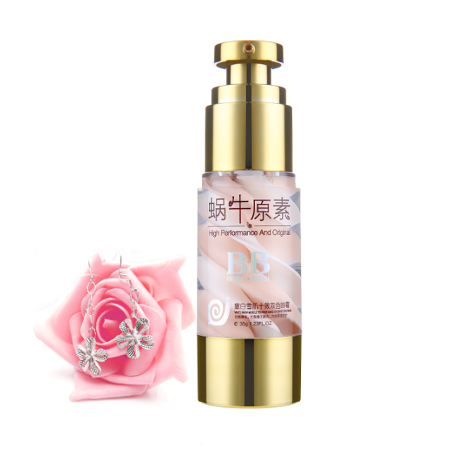 Double color waterproof snail extract white products bb cream