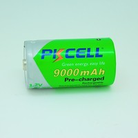 high quality batteries nimh type 1.2v d size 9000mah up to 1200time recycle life