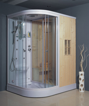 GUIDA sector high quality portable wet glass sliding door hotel home toilet steam sauna shower room cabin