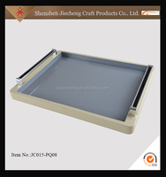 Fashion design colorful portable plastic acrylic food service tray