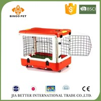 Plastic dog carrier cage & cat cage &metal door removeble cage for dog
