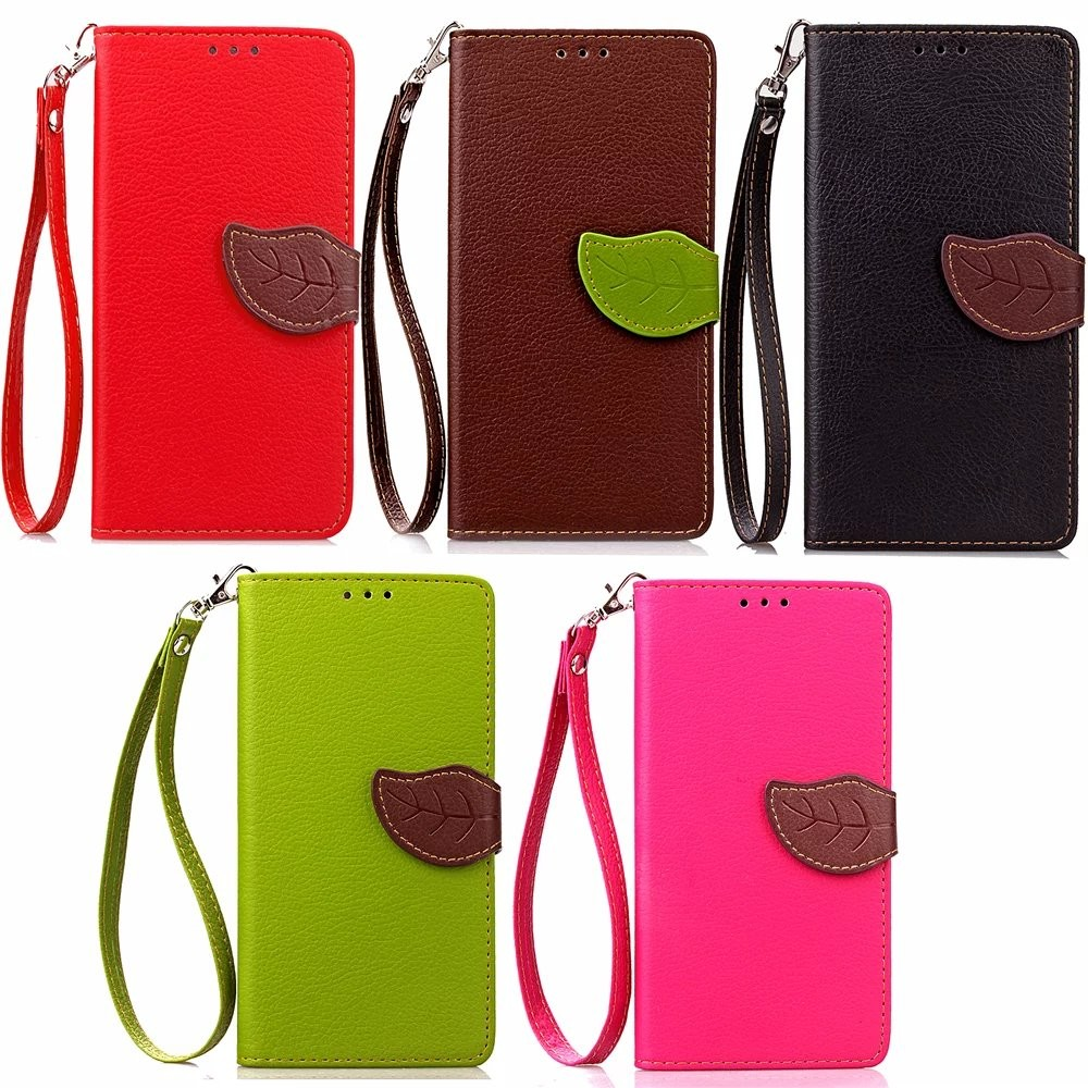 For iPhone 7 Flip Magnetic PU Leather Case; Leaf Buckle Wallet Stand Cover for iPhone 7 Plus Credit Card Slot Silicon Phone Case