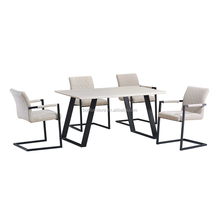 European Industrial Metal Furniture Metal Dining Set 4/Cheap MDF dining set