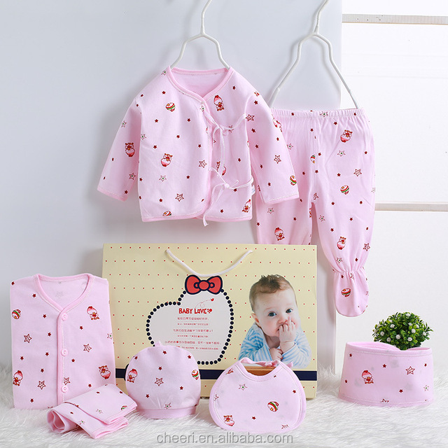 2017 cute good looking high quality cheap infant's clothes set wholesale toddler clothing new design baby clothes gift set