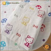"Colourful Mushroom Cute Cat Designs Super Soft Handfeeling 47*47"" After Washed Baby Muslin Swaddle"