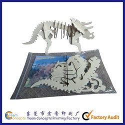 OEM paper educational toys 3d Puzzle jigsaw puzzle with box