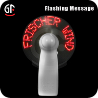 China Factory Wholesale Mini Message Led Fan With CE,ROSH Approval