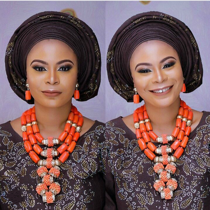 Luxury African Wedding Bridal Coral Jewelry Sets Women Costume Jewelry Sets Big Coral Bead Necklace Set