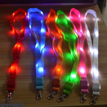 Customized party led lanyard light up polyester for ID holder