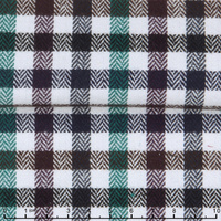 James herringbone Flannel cotton two side brushing heavy check men's shirting fabric